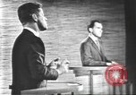 Image of presidential election debate Washington DC USA, 1960, second 58 stock footage video 65675073652
