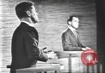 Image of presidential election debate Washington DC USA, 1960, second 60 stock footage video 65675073652