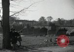 Image of German civilians on east bank of Mulde River Grimma Germany, 1945, second 24 stock footage video 65675073903