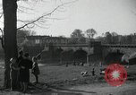 Image of German civilians on east bank of Mulde River Grimma Germany, 1945, second 25 stock footage video 65675073903
