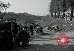 Image of German civilians on east bank of Mulde River Grimma Germany, 1945, second 43 stock footage video 65675073903
