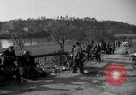Image of German civilians on east bank of Mulde River Grimma Germany, 1945, second 46 stock footage video 65675073903