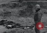 Image of unburied bodies of victims Germany, 1945, second 10 stock footage video 65675073912
