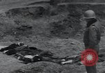 Image of unburied bodies of victims Germany, 1945, second 21 stock footage video 65675073912