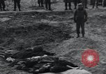 Image of unburied bodies of victims Germany, 1945, second 25 stock footage video 65675073912