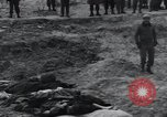 Image of unburied bodies of victims Germany, 1945, second 31 stock footage video 65675073912