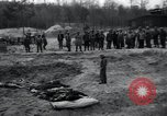 Image of unburied bodies of victims Germany, 1945, second 60 stock footage video 65675073912
