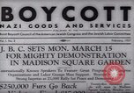 Image of Boycott Campaign Flyer New York City USA, 1937, second 1 stock footage video 65675073930
