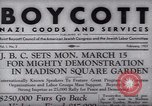 Image of Boycott Campaign Flyer New York City USA, 1937, second 2 stock footage video 65675073930