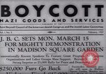 Image of Boycott Campaign Flyer New York City USA, 1937, second 3 stock footage video 65675073930