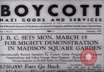 Image of Boycott Campaign Flyer New York City USA, 1937, second 5 stock footage video 65675073930