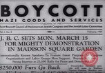 Image of Boycott Campaign Flyer New York City USA, 1937, second 6 stock footage video 65675073930