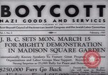 Image of Boycott Campaign Flyer New York City USA, 1937, second 13 stock footage video 65675073930