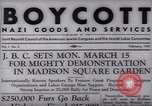 Image of Boycott Campaign Flyer New York City USA, 1937, second 16 stock footage video 65675073930