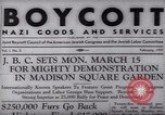 Image of Boycott Campaign Flyer New York City USA, 1937, second 18 stock footage video 65675073930