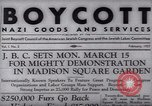 Image of Boycott Campaign Flyer New York City USA, 1937, second 19 stock footage video 65675073930