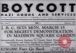 Image of Boycott Campaign Flyer New York City USA, 1937, second 20 stock footage video 65675073930