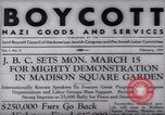 Image of Boycott Campaign Flyer New York City USA, 1937, second 21 stock footage video 65675073930