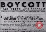 Image of Boycott Campaign Flyer New York City USA, 1937, second 24 stock footage video 65675073930