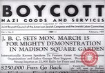 Image of Boycott Campaign Flyer New York City USA, 1937, second 25 stock footage video 65675073930