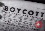 Image of Boycott Campaign Flyer New York City USA, 1937, second 36 stock footage video 65675073930