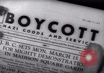 Image of Boycott Campaign Flyer New York City USA, 1937, second 39 stock footage video 65675073930