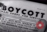 Image of Boycott Campaign Flyer New York City USA, 1937, second 40 stock footage video 65675073930