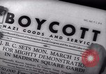Image of Boycott Campaign Flyer New York City USA, 1937, second 42 stock footage video 65675073930