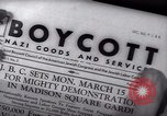 Image of Boycott Campaign Flyer New York City USA, 1937, second 43 stock footage video 65675073930