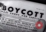 Image of Boycott Campaign Flyer New York City USA, 1937, second 47 stock footage video 65675073930