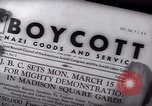 Image of Boycott Campaign Flyer New York City USA, 1937, second 49 stock footage video 65675073930