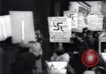 Image of anti-Nazi protesters New York City USA, 1938, second 33 stock footage video 65675073983