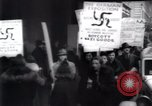 Image of anti-Nazi protesters New York City USA, 1938, second 38 stock footage video 65675073983