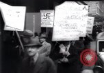 Image of anti-Nazi protesters New York City USA, 1938, second 44 stock footage video 65675073983