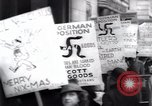 Image of anti-Nazi protesters New York City USA, 1938, second 45 stock footage video 65675073983