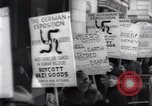 Image of anti-Nazi protesters New York City USA, 1938, second 46 stock footage video 65675073983