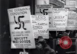 Image of anti-Nazi protesters New York City USA, 1938, second 47 stock footage video 65675073983