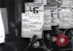 Image of anti-Nazi protesters New York City USA, 1938, second 48 stock footage video 65675073983