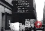 Image of anti-Nazi protesters New York City USA, 1938, second 50 stock footage video 65675073983