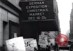 Image of anti-Nazi protesters New York City USA, 1938, second 51 stock footage video 65675073983