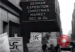 Image of anti-Nazi protesters New York City USA, 1938, second 54 stock footage video 65675073983