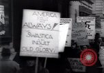 Image of anti-Nazi protesters New York City USA, 1938, second 62 stock footage video 65675073983