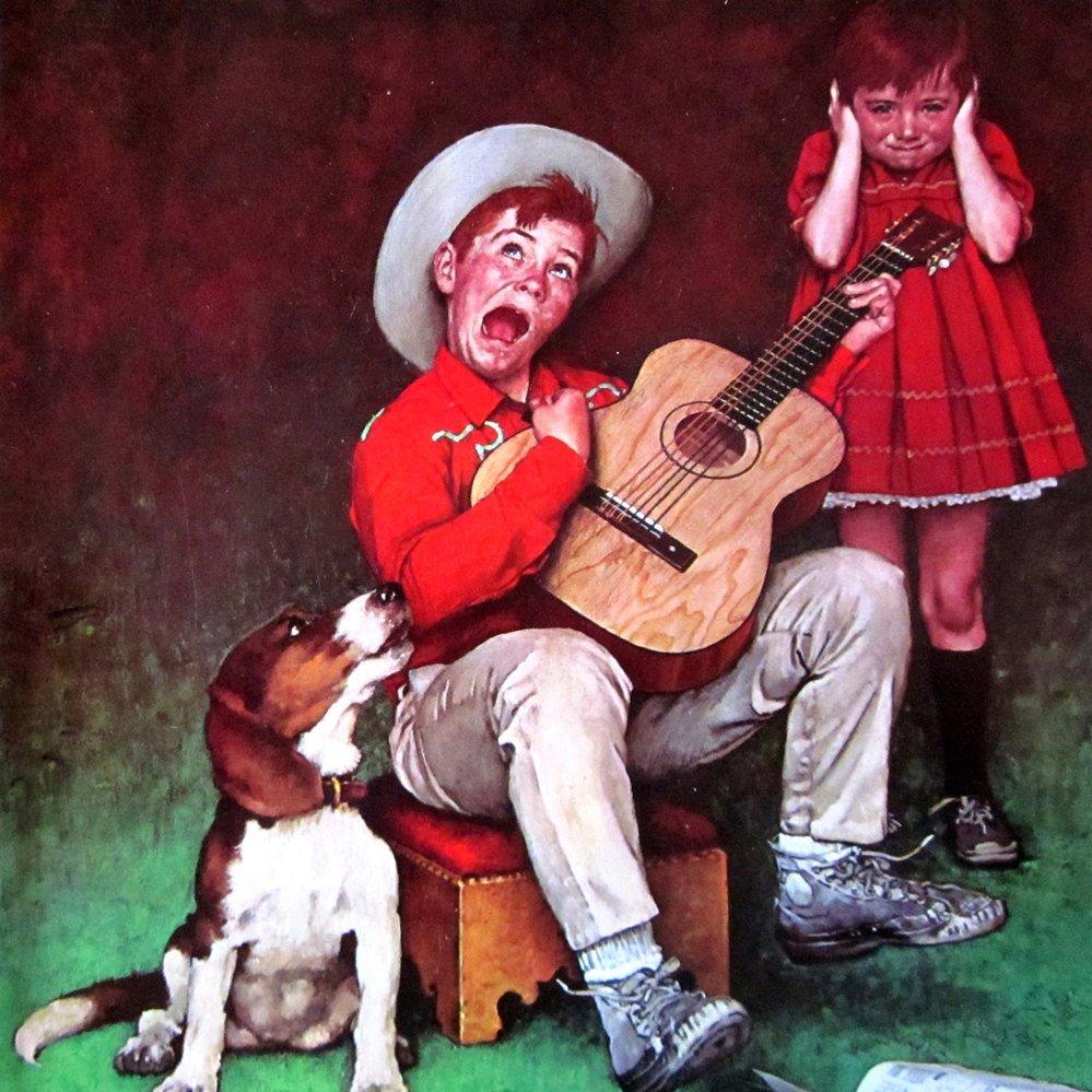 Смешные картинки с гитарами, девушка розами открытки