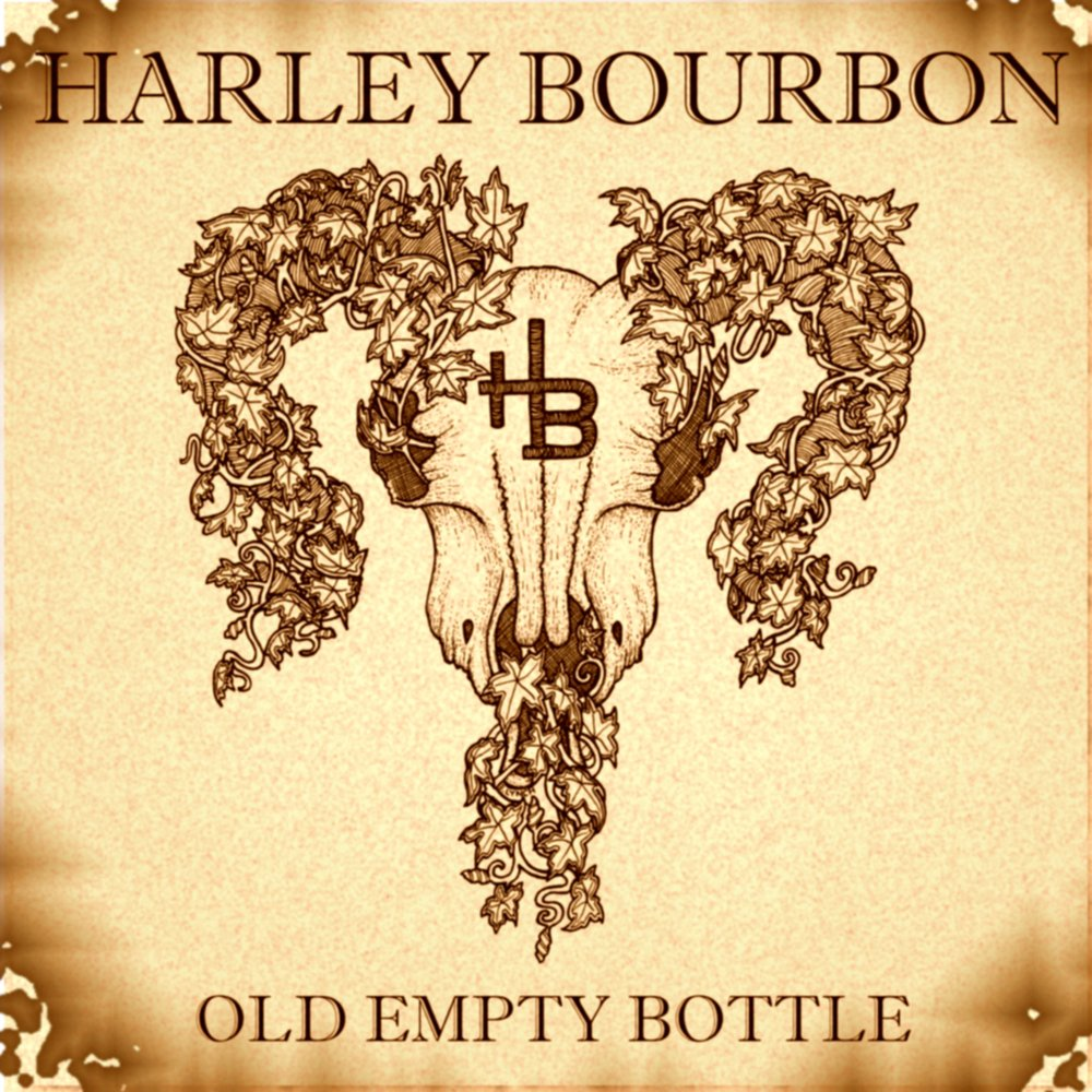 Old empty bottle cover art