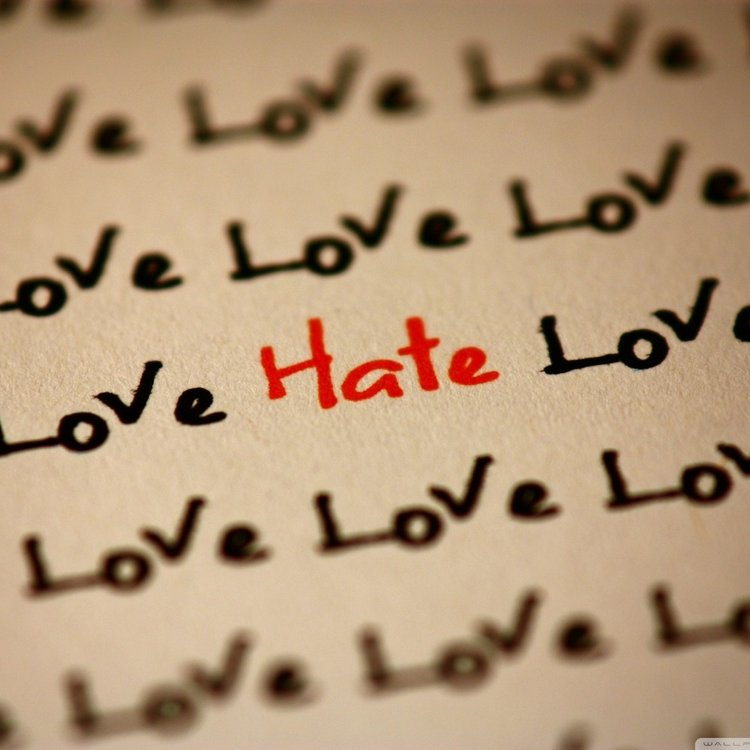 Love and hate wallpaper 1400x1050