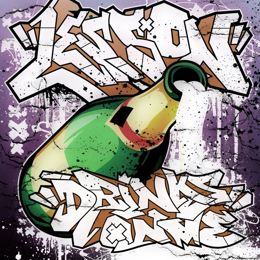 Drinks on me front print