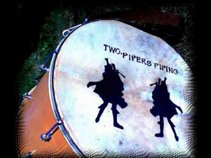 Two  Pipers Piping