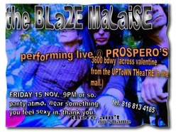 Image for THE BLAZE MALAISE