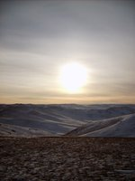 Mongolian frozen steppe
