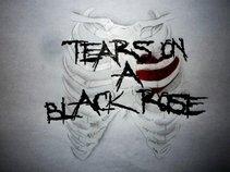 tears on a black rose